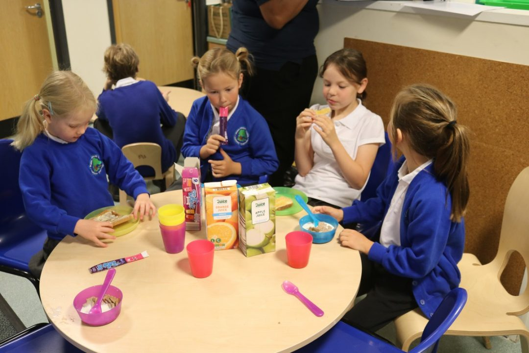 Helping children to recognise the importance of eating breakfast