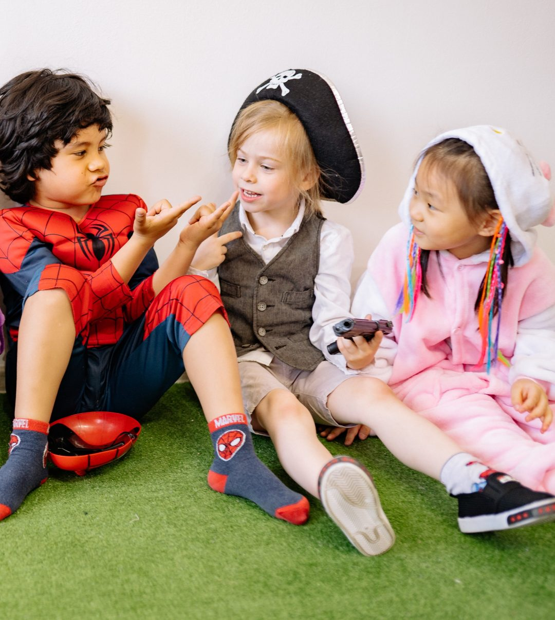 A fancy dress party with lots of fun and games